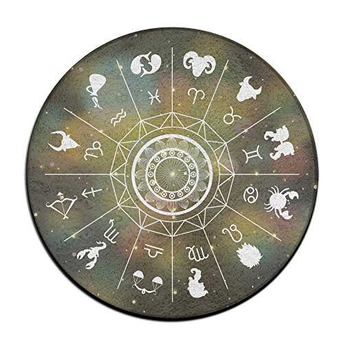 Horoscope Signs Round Area Floor Mats Entrance