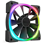 NZXT AER RGB 2 - 140mm - Advanced Lighting Customizations - Winglet Tips - Fluid Dynamic Bearing - LED RGB PWM Fan for Hue 2 - Single