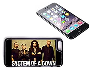 iPhone 6 Black Plastic Hard Case with High Gloss Printed Insert System Of A Down by mcsharks