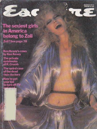 Esquire Magazine (March 1976) Robert Crumb; New York & New Yorkers; the Fifties; Zoli; Ronald Reagan; Uri Geller (Vo. 85, No. 3, Whole No. 508)