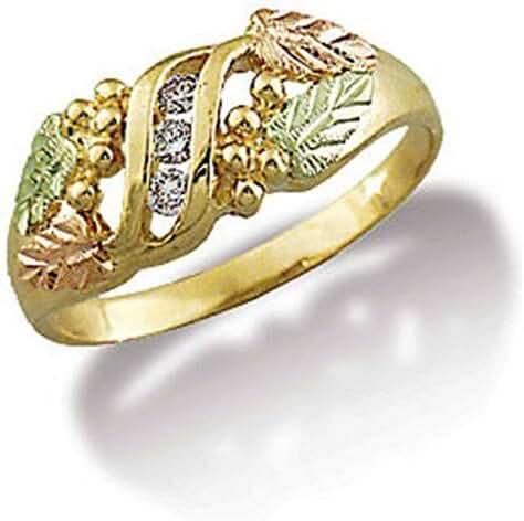 Landstroms Ladies 10k Black Hills Gold Diamond Ring - LR770X
