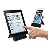 Aluminum Tablet Stand - iXCC Multi-Angle Holder for Tablets, Smartphones and E-Readers [iPhone / iPad / Samsung Galaxy / Tab / Google Nexus] - Black