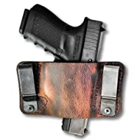 Versacarry 22106 Orion Holster-Outside/Inside The Waistband-Metal Clips-Tuckable-Ambidextrous Distressed Brown Water Buffalo, Micro (Fits Most .25 to .380 Autos)