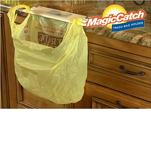 Magic Catch, Trash Bag Holder Instant-on Kitchen Clean-up Tool, Zero Mess in Kitchen, Bath, Boat, RV, Laundry Room. Clean Up is a Snap, Grocery Bag - Is Snap And