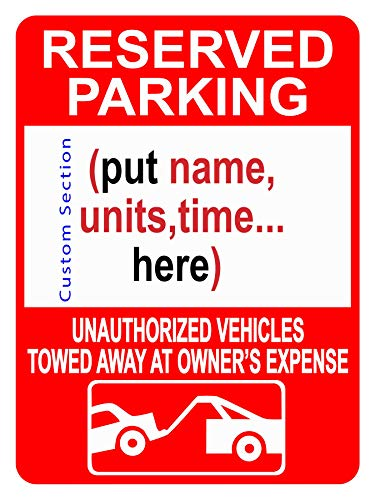 Custom Reserved Parking Sign - Reserve Private Spots for Customers Employees, Parking Lot Clear Outdoor Reflective Heavy-Duty .04