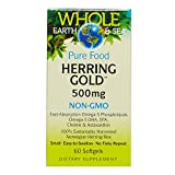 Cheap Whole Earth & Sea – Herring Gold 500mg, Sustainably Harvested Support for a Healthy Heart and Brain, 60 Softgels