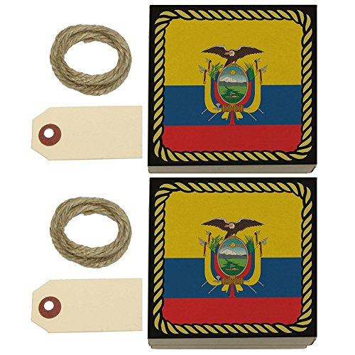 (Flag of Ecuador Kraft Gift Boxes Set of 2)