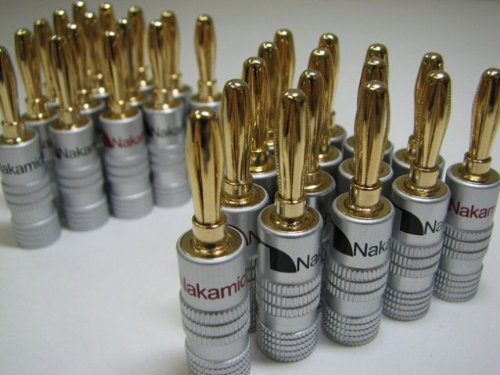 Price comparison product image New 24 pcs 24K Gold Nakamichi Speaker banana plug Audio Jack connector
