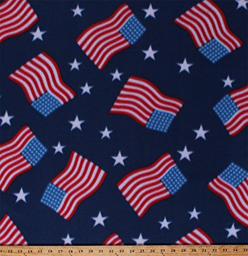 Fleece American Flags Stars and Stripes Patriotic Fourth of