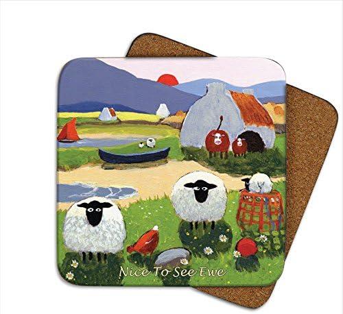Amazon Com Nice To See Ewe Coaster By Thomas Joseph Funny Sheep By Thomas Joseph Clothing