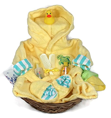 Sunshine Gift Baskets - Sea Characters 10 Piece Bath Time Gift Set - Yellow