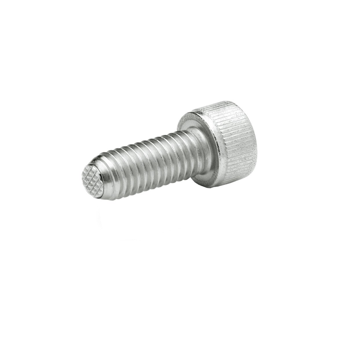 Safety Twist Feature J.W Winco 10N40P48//VRN GN606-NI Socket Head Cap Screw with Serrated Flat Ball M10 x 40 mm Thread Length Stainless Steel Ganter