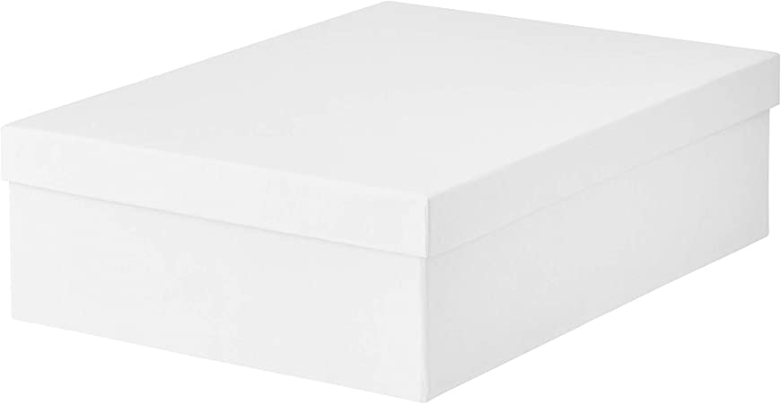 IKEA 903.954.22 Tjena - Caja de almacenaje con tapa, color blanco: Amazon.es: Hogar