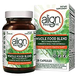 Align Whole Food Blend Probiotics, Vegan and Gluten Free Supplement, 28 Capsules, Digestive Health for Men and Women