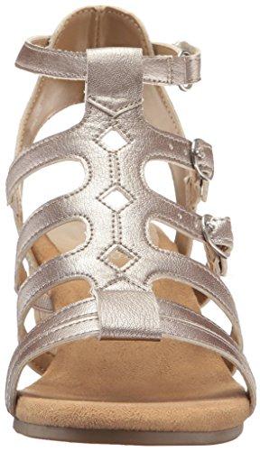 Women 6 Sandal Aerosoles Sparkle Silver Wedge US M dUCxnq