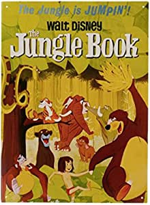 Libro de la selva Cartel de chapa en 29,7 x 42 cm – Jungle