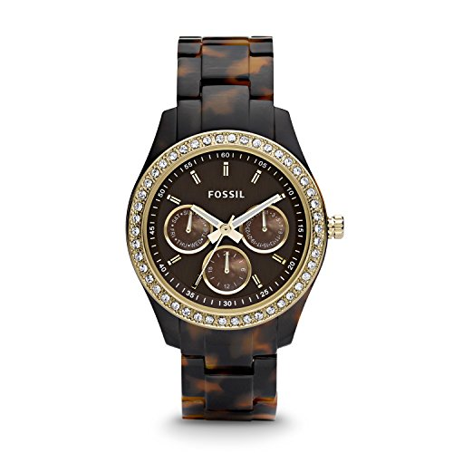 Fossil Stella Faux Tort Womens Watch - Brown