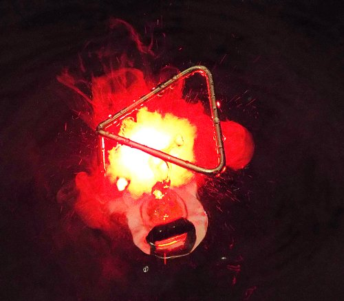 Seliger Ultrasonic Fogger/mister with 10w Light & Splash Guard -Mystic Red Color