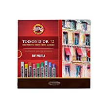 KOH-I-NOOR TOISON D'OR soft Artist Pastels (Pack of 72) by Koh-I-Noor