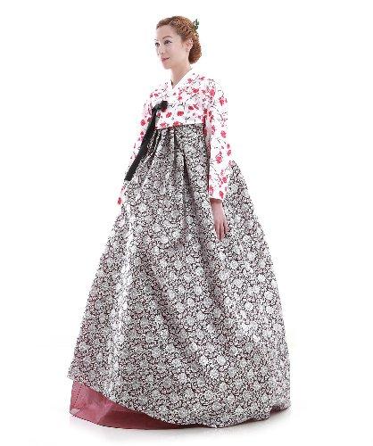 Kleid Hanbok Fashion Elegant Rot Lang Korea ggn7frSq