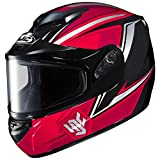 HJC CS-R2SN Seca Full Face Snow Helmet Framed Dual Lens Shield (MC-1 Red, XX-Large)