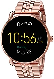Fossil Q Wander Gen 2 Touchscreen Rose Gold-Tone Stainless Steel Smartwatch