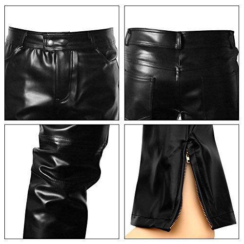 48f93c388aec2c Amor Present Men's Metallic Shiny Clubwear Pants Jeans for Christmas  Halloween Parties