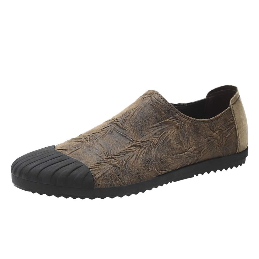 Acquista online Comode scarpe da ginnastica traspiranti Sneaker moda uomo Slip On Fasce elastiche laterali Scarpe in microfibra in pelle da allenamento atletico da corsa Scarpe sportive da corsa Scarpe sportive indos miglior prezzo offerta