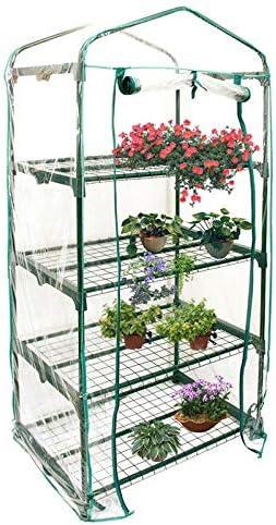 Jiudong Minikas voor buitenshuis met observatieramen outdoor draagbare doorzichtige plastic plantenkassen cover niet inclusief plank
