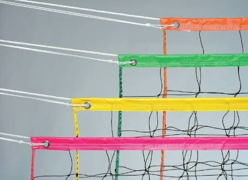 Price comparison product image Champion Sports Vinyl Volleyball Nets, Neon Yellow, 32 x 3-Feet