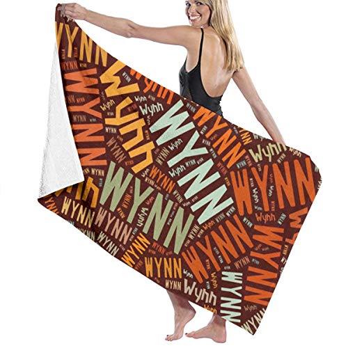 X-JUSEN Wynn - American Surname Bath Towel Bath Sheet, Beach Hand Turkish Towel Blanket Set for Home & Spa Collection Use