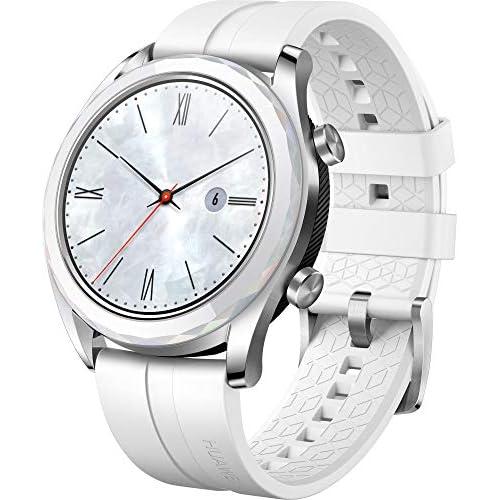 chollos oferta descuentos barato Huawei Watch GT Elegant Smartwatch con Caja de Metal Pantalla Táctil AMOLED de 1 2 Monitor de Ritmo Cardíaco y Sueño GPS Sumergible 50 M 42 mm Blanco