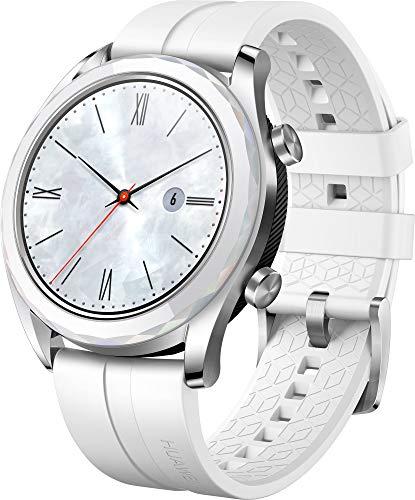 Huawei Watch GT Elegant, Smartwatch con Caja de Metal, Pantalla Tactil AMOLED de 1 2, Monitor de Ritmo Cardiaco y Sueno, GPS, Sumergible 50 M, 42 mm, Blanco