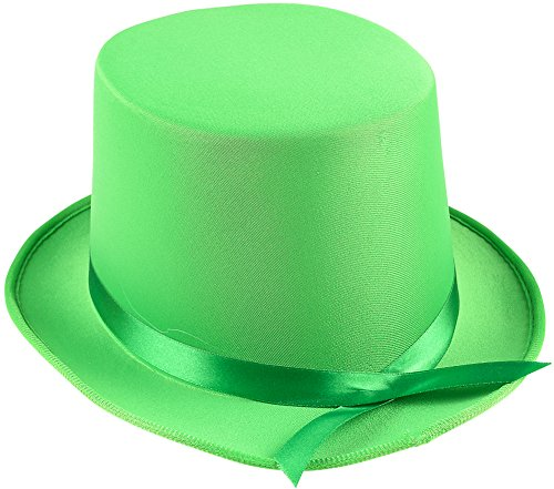 Adults Tap Dancer Magician Green Fabric Top Hat Costume (Tap Dancer Halloween Costumes)