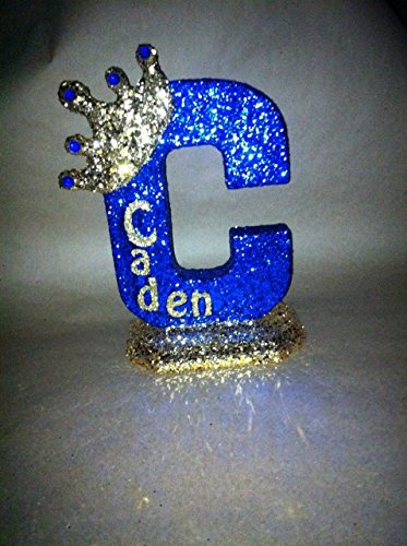 Personalized Royal themed centerpieces for baby shower centerpieces. Glitter crown centerpieces. Prince theme or Princess theme 10