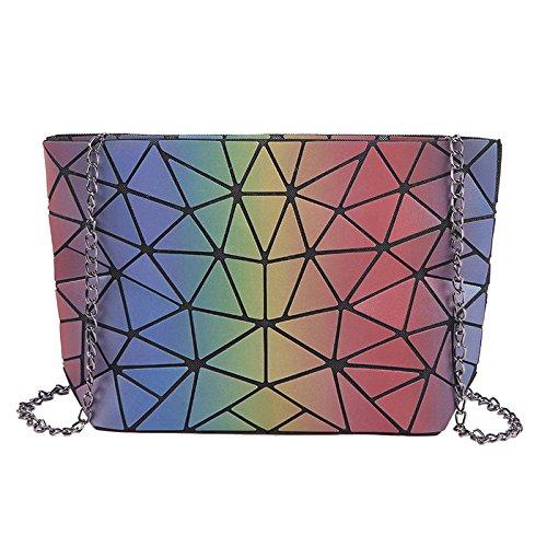 QQWE Multicolor Glitter Hombro Cadena De Damas Bolsa Messenger Bag Embrague Bolso Crossbody Bolso Casual Bolsos De Mujer Con Lentejuelas B