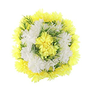 KODORIA Memorial Grave Flower Artificial Silk Flower Arrangement Funeral Cemetery Decoration - Yellow 46
