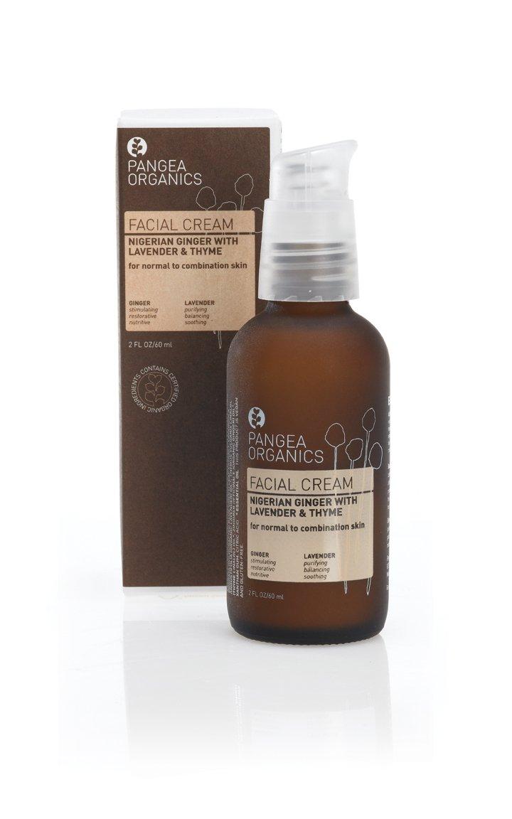 Pangea Organics Facial Cream, Nigerian Ginger, Sweet Lavender & Thyme, 2-Ounce Box