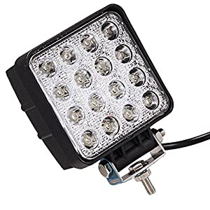 ATNEC-LED-Light-Bar-48W-Round-Flood-LED-Work-Light-Driving-Fog-Light-Off-Road-Lights-IP67-Waterproof-for-Off-road-Truck-Car-ATV-SUV-Jeep-Boat