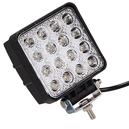 ATNEC-LED-Light-Bar-48W-Round-Flood-LED-Work-Light-Driving-Fog-Light-Off-Road-Lights-IP67-Waterproof-for-Off-road-Truck-Car-ATV-SUV-Jeep-Boat