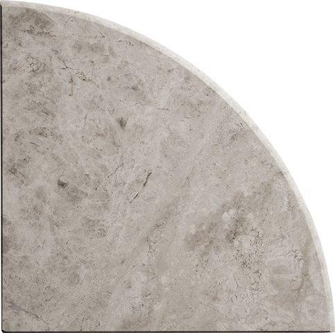 9'' X 9'' X 3/4'' Round Edge Marble Galaxy Gray Corner Shelf Piece Both Sides (Stone Mosaic Corner)