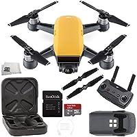 DJI Spark Quadcopter (Sunrise Yellow) + DJI Spark Remote Starter Bundle