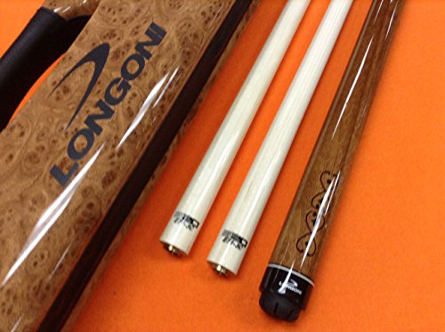 LONGONI CAROM CUE MADEIRA WITH S20 SHAFTS & PATENTED CASE by Longoni