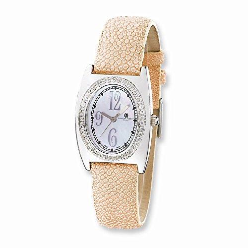 Diamond Pink Stingray - Best Designer Jewelry Ladies Charles Hubert Pink Stingray 0.75ct. Diamond 29x32mm Watch