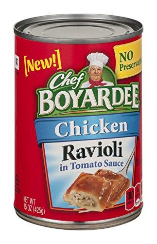 Chef Boyardee, Chicken Ravioli in Tomato Sauce, 15oz Can (Pack of 6) - Chicken Ravioli