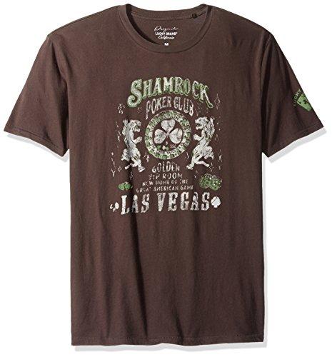 Lucky+Brand+Men%27s+Shamrock+Poker+Graphic+Tee%2C+Black+Mountain%2C+Large