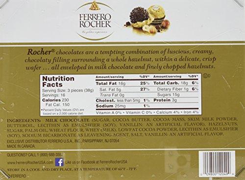 Large Product Image of Ferrero Rocher Fine Hazelnut Chocolates, 48 Count Flat, 21.2 oz.