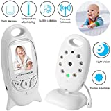 Video Baby Monitor Wireless Camera+2 Way Talk Back Audio+Night Vision+Temperature Sensor+8 Lullaby+2' LCD Screen+Baby Pet Surveillance Monitor Audio for Home Security, No WiFi Needed