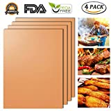 Cheap Copper Grill Mat, Blingco Non Stick BBQ Grill Mats & Bake Mats – Perfect for Baking on Gas, Charcoal, Electric Barbecue Grill, FDA-Approved, PFOA Free, Reusable, Easy to Clean – 15.75 x 13″ (Set of 4)