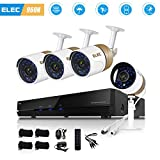 ELEC 1500TVL 960H 4CH HDMI DVR Video CCTV Security Camera System Outdoor/Indoor IR-CUT Night Vision 4 Cameras Surveillance Kit, IP66 Weatherproof, NO Hard Drive